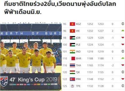 Thua Việt Nam 20 bậc trên bảng xếp hạng FIFA, báo Thái nói điều bất ngờ - ảnh 1