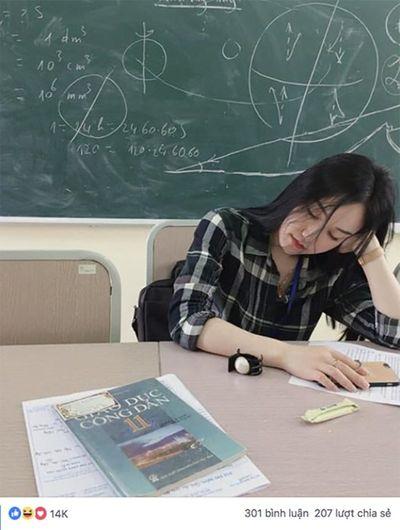 Cô giáo hút ngàn lượt theo dõi chỉ sau một đêm nhờ bức ảnh ngủ gật cực duyên - ảnh 1