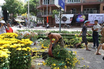 Tiểu thương xé nát hoa khi giảm giá xuống 5.000 đồng/chậu mà vẫn không có người mua - ảnh 1