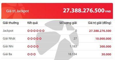 Kết quả xổ số Vietlott hôm nay 15/5/2020: Giải Jackpot hơn 27 tỷ đồng sẽ thuộc về ai? - ảnh 1