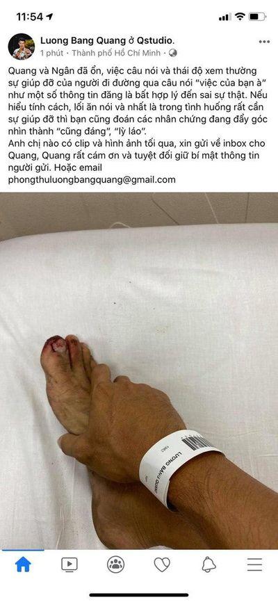 Lộ hình ảnh Lương Bằng Quang và Ngân 98 bị đánh ngoài đường, phải nhập viện điều trị - ảnh 1