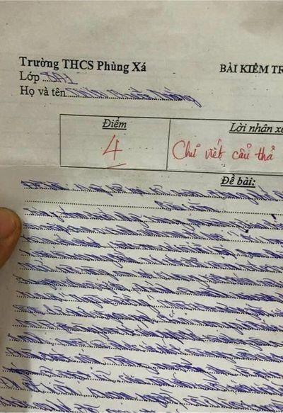 """Phát hoảng với bài kiểm tra chữ xấu hơn gà bới, cư dân mạng phải thốt lên """"hoa mắt thật sự"""" - ảnh 1"""