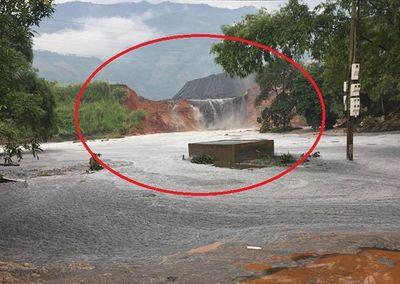 Hiện trường vụ vỡ hồ chứa chất thải tại Lào Cai, hàng chục hộ dân bị ảnh hưởng - ảnh 1