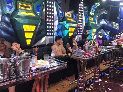 Lai Châu: Đột kích quán karaoke, phát hiện 32 người dương tính với ma túy - ảnh 1