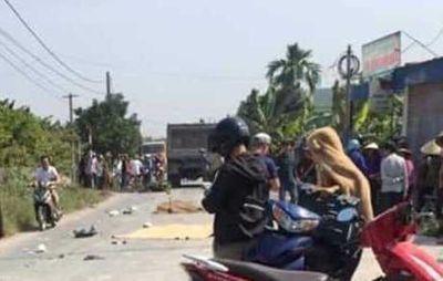 Hải Phòng: Va chạm với ô tô tải, hai thanh niên tử vong sau khi dự tiệc cưới - ảnh 1