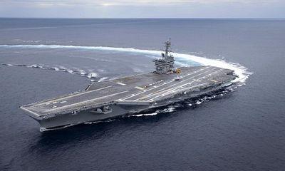 Căng thẳng Mỹ-Iran: Nhóm siêu tàu chiến của Washington tập trận rầm rộ trên biển Arab  - ảnh 1