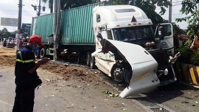 Vụ tai nạn thảm khốc khiến 5 người chết ở Tây Ninh: Tài xế container khai gì? - ảnh 1