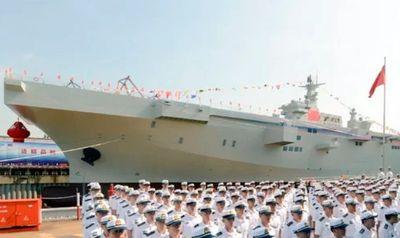 Tin tức quân sự mới nóng nhất hôm nay 26/9: Tàu sân bay trực thăng đầu tiên của Trung Quốc hạ thủy - ảnh 1