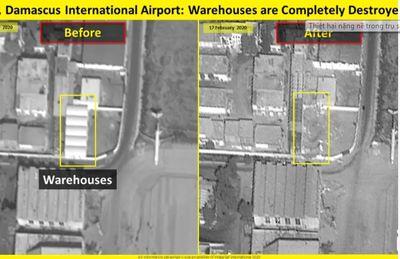 Israel tung ảnh vệ tinh hé lộ Syria bất lực trước đòn tấn công nhắm vào sân bay Quốc tế Damascus - ảnh 1