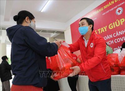 """Hội Chữ thập đỏ Việt Nam triển khai mô hình """"Chợ Nhân đạo"""" hỗ trợ người gặp khó khăn do Covid-19 - ảnh 1"""