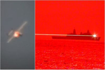 Lộ diện siêu vũ khí laser của Hải quân Mỹ có khả năng thiêu cháy phi cơ đang bay - ảnh 1