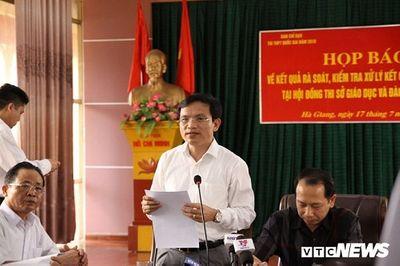 Họp báo công bố gian lận điểm thi THPT quốc gia 2018 tại Hà Giang: Hơn 300 bài thi bị sửa điểm - ảnh 1