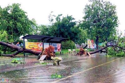 Ảnh hưởng của cơn bão số 5: 900.000 hộ dân miền Trung mất điện, 2 người bị thương - ảnh 1
