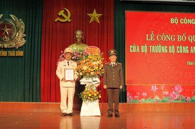 Giám đốc Công an tỉnh Thái Bình vừa được bổ nhiệm là ai? - ảnh 1