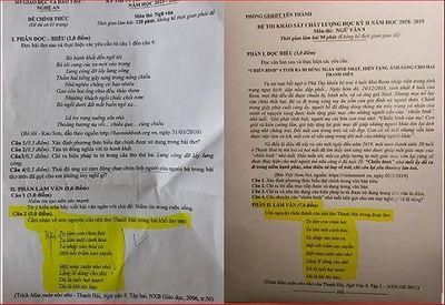 Sở GD&ĐT Nghệ An lên tiếng trước nghi án đề thi lớp 10 môn Văn giống đề kiểm tra học kỳ - ảnh 1