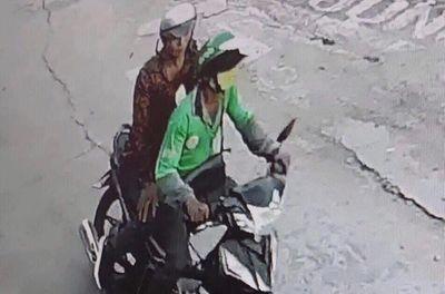 TP.HCM: Cận cảnh hình ảnh nghi phạm cứa cổ tài xế GrabBike, cướp tài sản - ảnh 1
