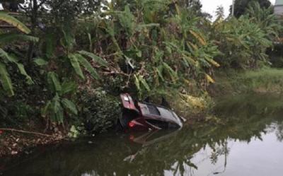 Quảng Ninh: Ô tô lao xuống ao, hai vợ chồng tử vong thương tâm - ảnh 1