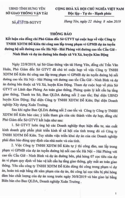 Kim Động – Hưng Yên: Sớm làm rõ việc doanh nghiệp xây dựng công trình không phép gây bức xúc cho dư luận - ảnh 1