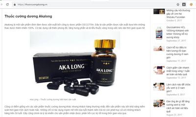 Thực phẩm bảo vệ sức khỏe Akalong quảng cáo là thuốc, dễ gây hiểu nhầm - ảnh 1