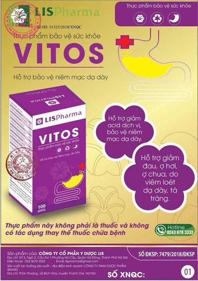 Giảm trào ngược dạ dày, đau dạ dày tái phát nhờ VITOS - ảnh 1