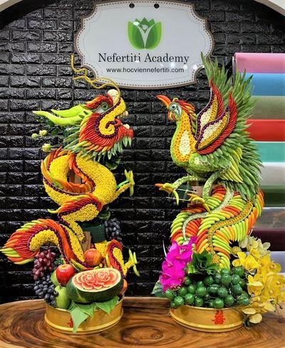 Nghệ thuật tạo hình kết tráp từ tinh hoa nông sản Việt  - ảnh 1