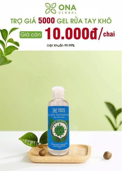 ONA GLOBAL trợ giá chai Gel rửa tay diệt khuẩn chỉ 10.000 đồng- Thắp sáng tình người giữa tâm dịch Corona - ảnh 1
