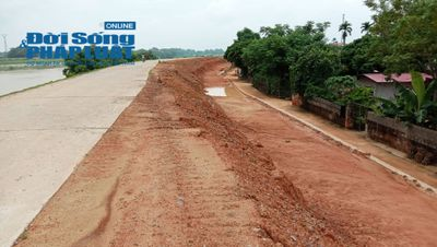 Thanh Hóa: Dự án xử lý khẩn cấp đê tả sông Chu dùng đất thải, bùn ruộng để đắp đê? - ảnh 1