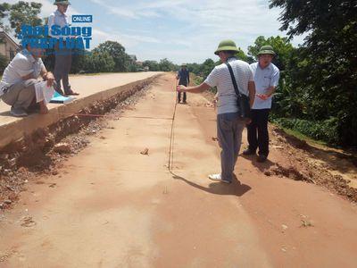 Công trình dự án xử lý khẩn cấp đê tả sông Chu: Đã có kết luận kiểm tra - ảnh 1