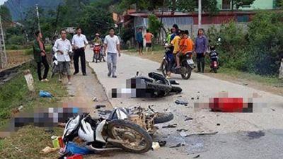 Tin tức tai nạn giao thông mới nhất hôm nay 10/10/2019: Va chạm kinh hoàng giữa 2 xe máy, 5 người thương vong - ảnh 1