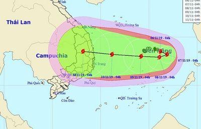 Diễn biến mới nhất về hướng đi của bão số 6 trên biển Đông - ảnh 1