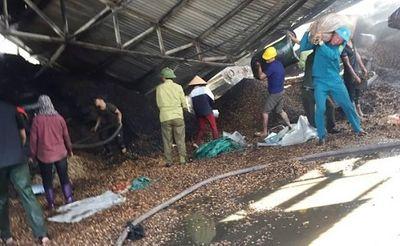 Cháy lớn ở xưởng lạc tại Hà Tĩnh, thiệt hại lên đến 10 tỉ đồng - ảnh 1