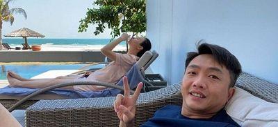 Vợ chồng Cường đô La rạng rỡ trong tiệc sinh nhật Subeo, Đàm Thu Trang lộ ngoại hình mũm mĩm gây chú - ảnh 1