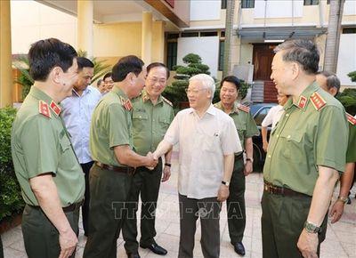 Tổng Bí thư, Chủ tịch nước dự Hội nghị Đảng ủy Công an Trung ương - ảnh 1