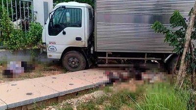 Thông tin mới nhất vụ xe máy kẹp 3 đấu đầu ô tô tải, 2 người tử vong ở Vĩnh Phúc - ảnh 1
