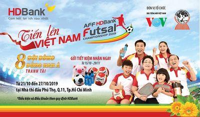 Hàng ngàn quà tặng dành cho khách hàng gửi tiết kiệm đồng hành cùng giải Futsal HDBank Đông Nam Á  - ảnh 1