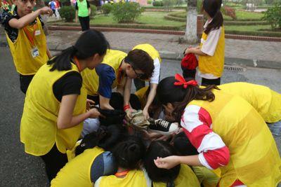 """Trại huấn luyện KNM """"có một không hai"""" của sinh viên K13 ĐH Đại Nam  - ảnh 1"""
