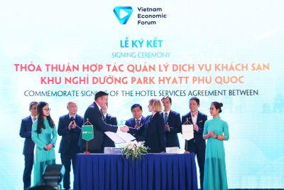 BIM Land và tập đoàn Hyatt ký kết thỏa thuận hợp tác tại diễn đàn cấp cao du lịch Việt Nam 2019 - ảnh 1