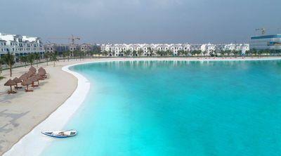 """Vinhomes Ocean Park đạt kỷ lục """"Khu đô thị có biển hồ nước mặn và hồ nước ngọt nhân tạo trải cát trắng lớn nhất thế giới""""  - ảnh 1"""