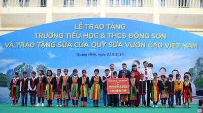 Trẻ em Quảng Ninh đón nhận ngôi trường mới từ Chủ tịch Quốc hội và hơn 71 ngàn ly sữa từ Quỹ sữa Vươn cao Việt Nam  - ảnh 1