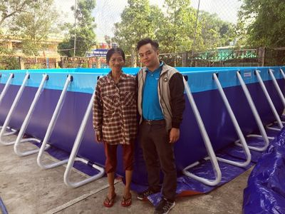 Trao tặng 5 bể bơi di động miễn phí của nhà sản xuất Hoàng Hải - ảnh 1
