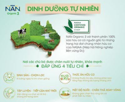 Nestlé Việt Nam ra mắt bộ dôi sản phẩm dinh dưỡng hữu cơ dành cho trẻ nhỏ - NAN Organic 3 & GERBER Organic - ảnh 1