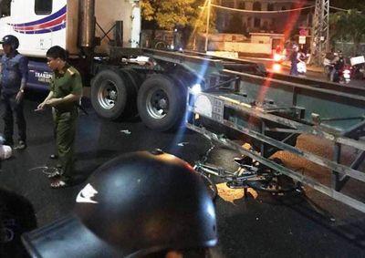 Đà Nẵng: Va chạm khiến cụ ông đi xe đạp tử vong tại chỗ, tài xế container nhanh chóng rời khỏi hiện trường - ảnh 1