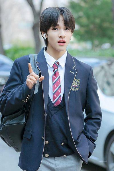 Ngắm loạt ảnh sao Hàn gây náo loạn trường học: Mặc đồng phục mà như đi event, thảm đỏ - ảnh 1