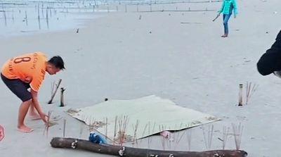 Quảng Nam: Tá hỏa phát hiện thi thể không đầu, đang phân hủy nặng ở bãi biển Tam Tiến - ảnh 1