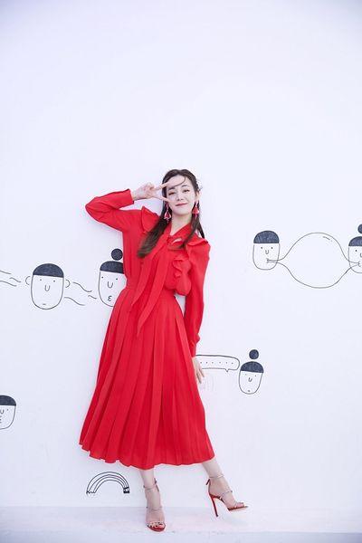Ảnh hậu trường đẹp xuất sắc của Địch Lệ Nhiệt Ba gây sốt mạng xã hội - ảnh 1