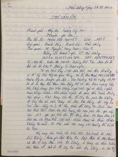 Được CSGT cứu giúp, đại tá quân đội về hưu viết thư cảm ơn - ảnh 1