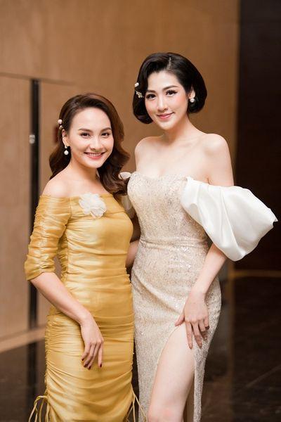 Á hậu Tú Anh quyến rũ, khoe dáng nuột nà hội ngộ cùng Bảo Thanh tại sự kiện - ảnh 1