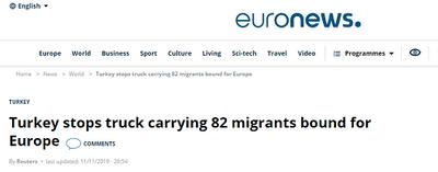 Lại phát hiện xe tải chở 82 người nhập cư trái phép tại Thổ Nhĩ Kỳ - ảnh 1