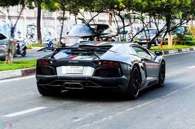 """""""Siêu bò"""" Lamborghini Aventador biển số tứ quý 9 lăn bánh trên đường phố TP.HCM - ảnh 1"""