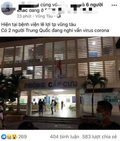 Nam thanh niên ở Vũng Tàu thừa nhận hành vi đăng tải thông tin sai sự thật về virus corona - ảnh 1